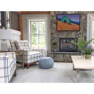 Schumacher Luberon Plaid Fabric Charles Stewart Lounge Chair Preview