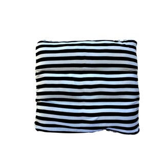 Crate & Barrel Black and White Knit Floor Pillow