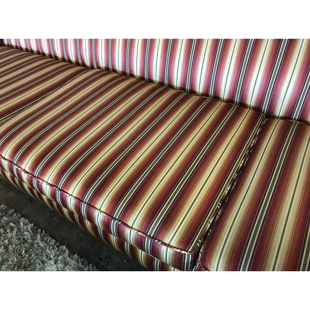 Silk Mid Century Sofa Style of Milo Baughman For Sale - Image 7 of 8