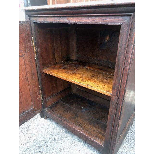 Brown 18th Century Georgian Oak Cabinet For Sale - Image 8 of 13