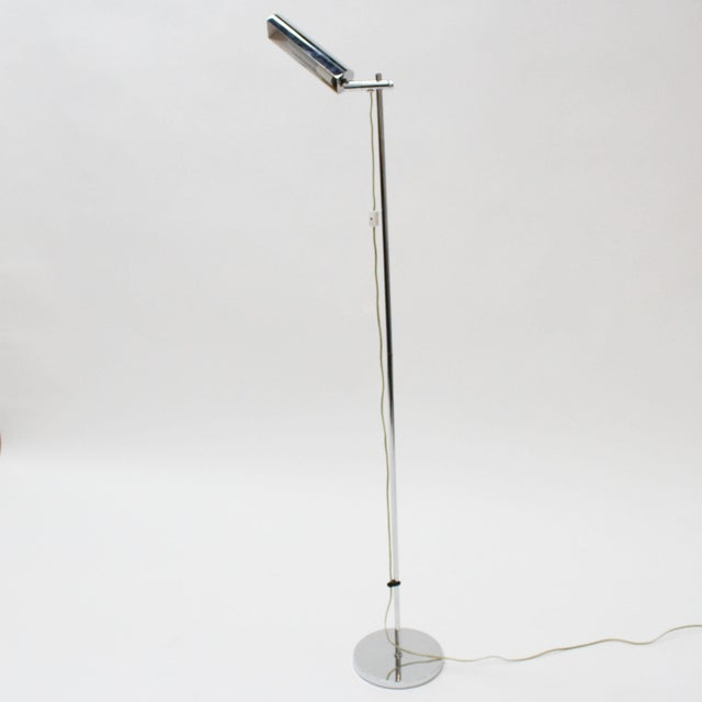 Modern Koch & Lowy Mid-Century Modern Chrome Floor Lamp For Sale - Image 3 of 6