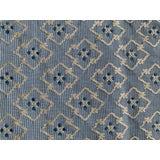 Image of Brunschwig & Fils Creek Figured Woven Blue Fabric Remnant For Sale