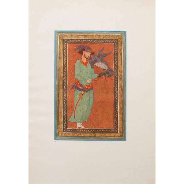 A gorgeous vintage original lithograph after c. 1570 Persian painting from Collection of Sir Bernard Eckstein, Uckfield,...