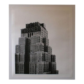 Large Scale New Yorker Hotel Building B & W Print For Sale