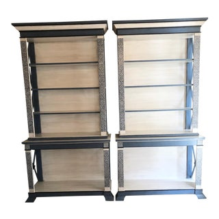 Greek Key Bookcases - A Pair For Sale