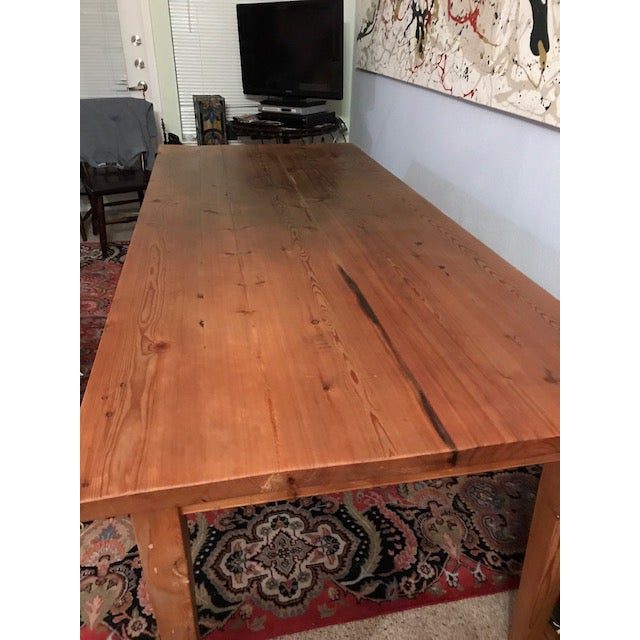 French Country Antique Pine Farm French Table For Sale - Image 3 of 13