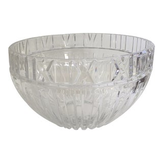 Traditional Tiffany & Co. Crystal Atlas Bowl For Sale