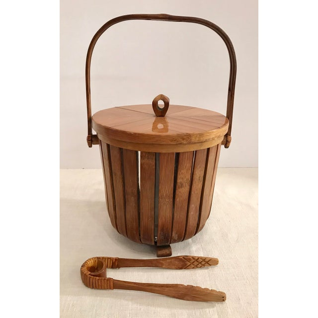 Vintage Bamboo Ice Bucket & Tongs - A Pair - Image 11 of 11