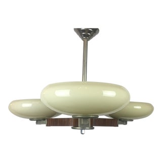 French Art Deco 3-Arm Chandelier For Sale