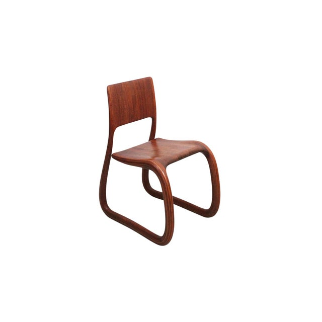 Sculptural Walnut Chair by David Flatt For Sale - Image 4 of 13