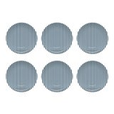 Image of Chairish x The Muddy Dog Stripes Outdoor Plates, Navy, Set of 6 For Sale