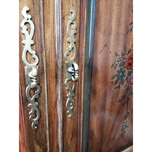 Chestnut Mid 20th Century Drexel Heritage Armoire For Sale - Image 8 of 11