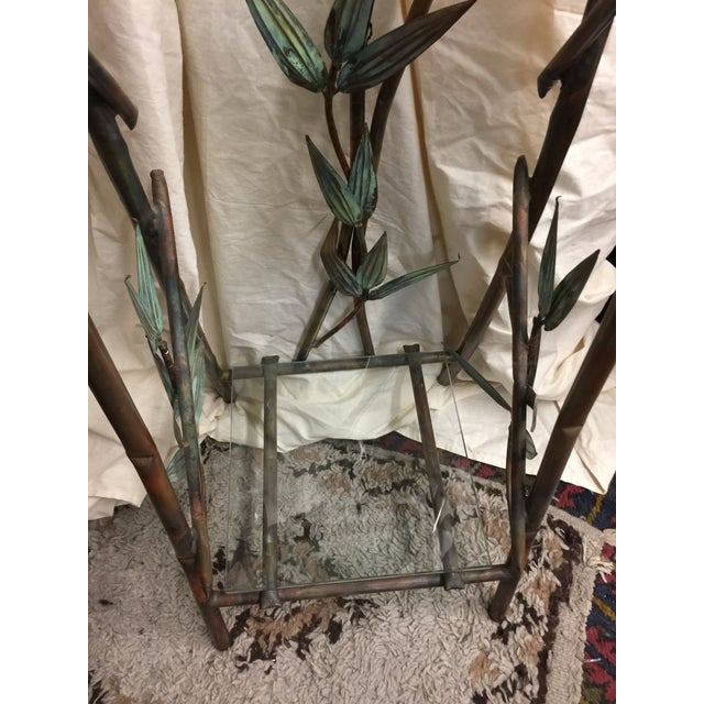 Modern Andy Brinkley Studio Bamboo Motif Copper Table and Mirror For Sale - Image 3 of 7