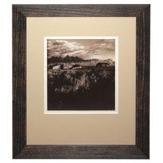 Western Scene Landscape Sepia Toned Silver Gelatin Photograph For Sale