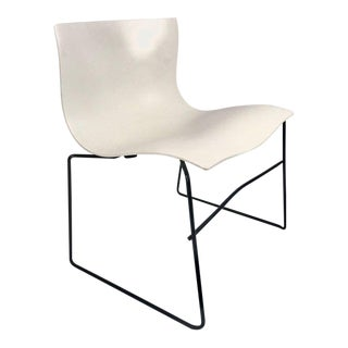 Knoll Massimo Vignelli Handkerchief Stacking Chair in Black & White For Sale