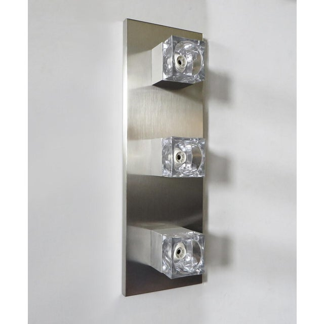 1960s Sciolari Nickel Sconces or Flush Mounts (8 Available) For Sale - Image 5 of 8