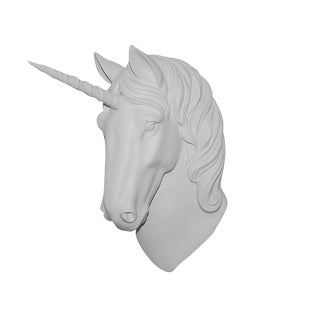"Wall Charmers ""The Luna"" Faux White Magical Unicorn Head Wall Hanging For Sale"