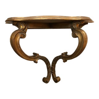 Palladio Florentine Gold Carved Wall Shelf, Made in Italy For Sale
