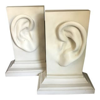 C2c Designs Figurative Human Ear Bookends - a Pair For Sale