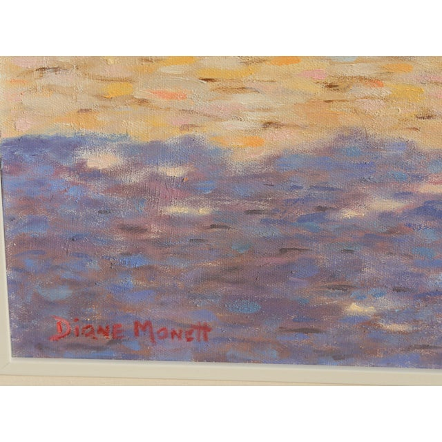 Oil on Canvas, signed Size: 20 x 24 in. (50.8 x 60.96 cm) Frame Size: 28 x 32 inches Diane Monet's Impressionistic...