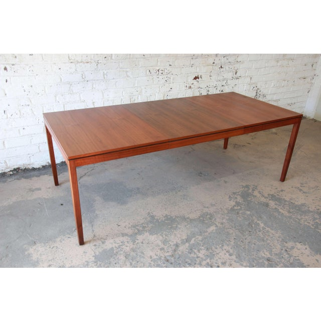 1957 Vintage Florence Knoll for Knoll International Walnut Extension Dining Table - Image 2 of 10