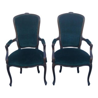 Trouvailes French Provincial Arm Chairs - A Pair For Sale