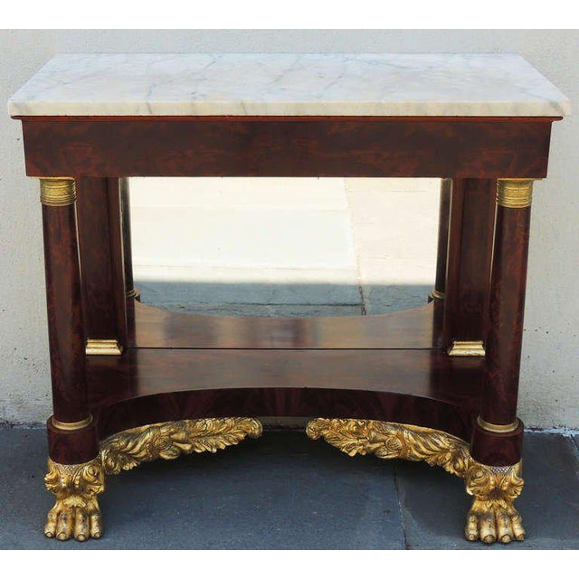 American Classical 19th C New York Marble-Topped Pier Table For Sale - Image 3 of 9