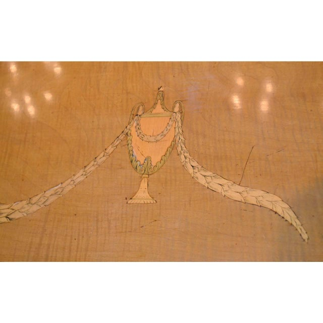 Wood Edwardian Marquetry Inlaid Console Table For Sale - Image 7 of 9