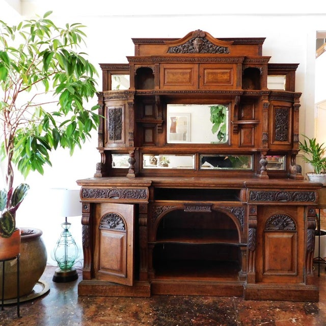 1900 - 1909 Early 20th Antique European Hutch For Sale - Image 5 of 10