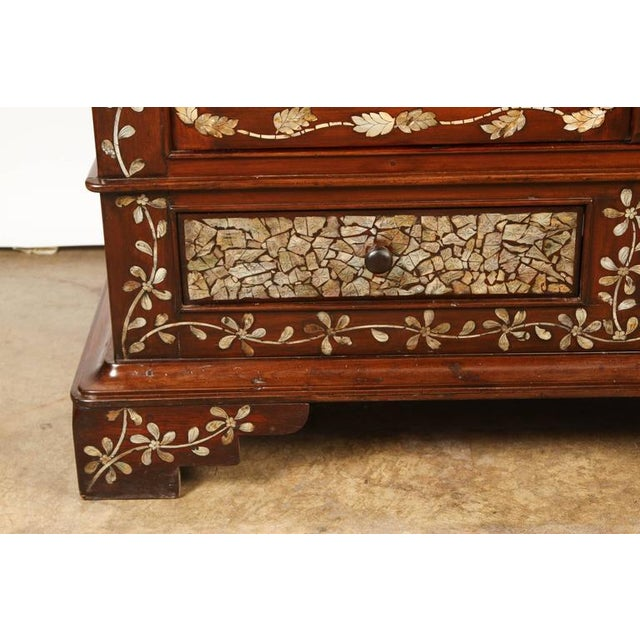 Colonial Rosewood Cabinet with Mother-of-Pearl For Sale In Los Angeles - Image 6 of 10
