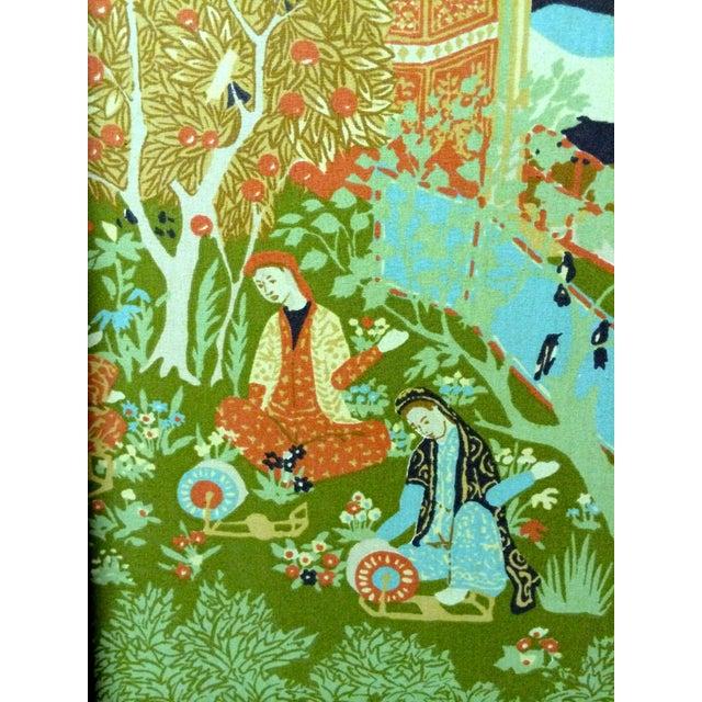Large Vintage Fabric Room Divider - Image 4 of 6