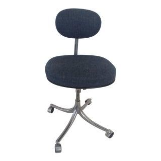 Vintage Mid Century Jorgen Rasmussen Swivel Office Chair For Sale