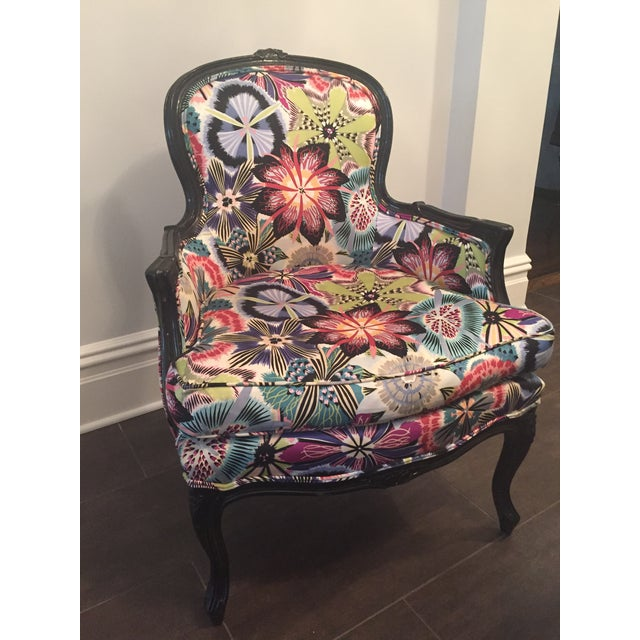 Missoni Home Armchair Virgola Nador: Missoni Fabric Covered Bergere Chair