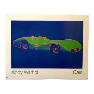 "Andy Warhol Cars ""1954 Green Formula One Car"" 1988 Poster For Sale"