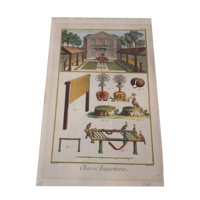 Antique Diderot French Hand-Colored Engraving - Image 1 of 4