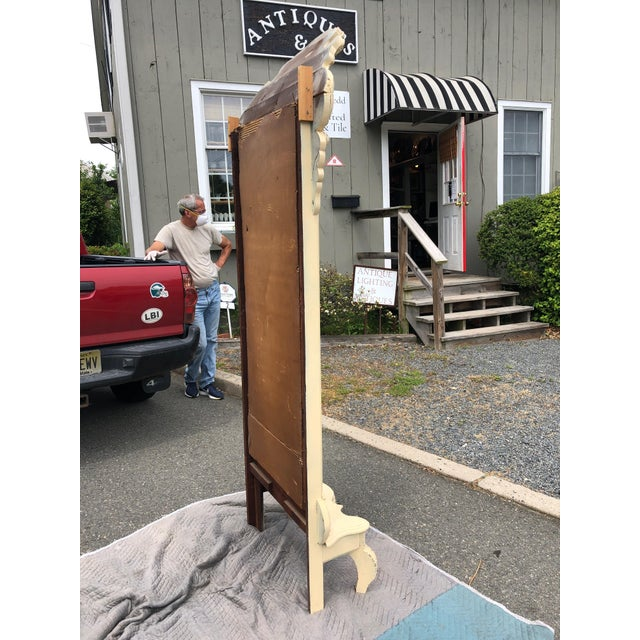 Carved Wood Painted Pier Mirror For Sale - Image 10 of 11