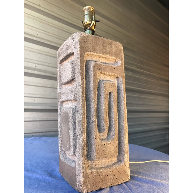 Sirmos Style Mid-Century Modern Rock Stone Table Lamp For Sale In Tampa - Image 6 of 6