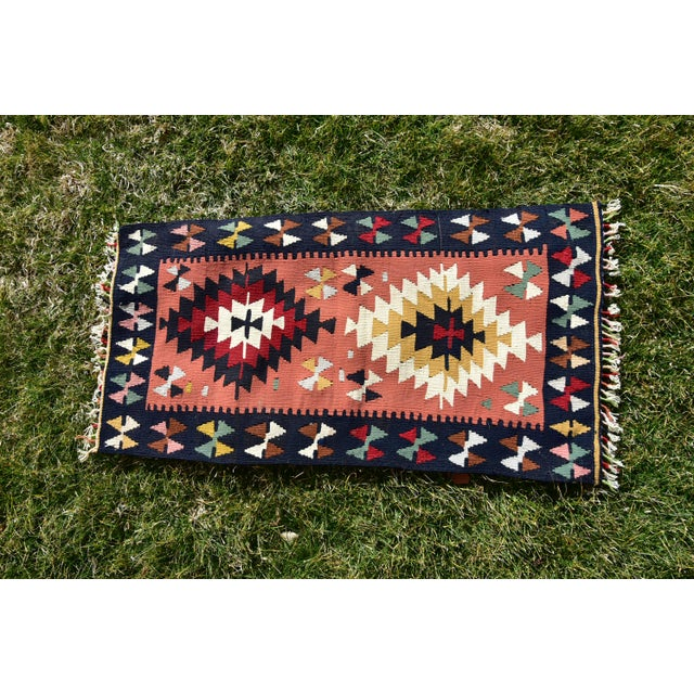 Vintage Hand Knotted Traditional Southwestern Style Anatolian Kilim Rug For Sale - Image 12 of 13