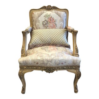 French Style Gilded Chair For Sale