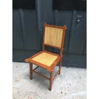 1940s Japanese Bamboo Slat Chair Preview