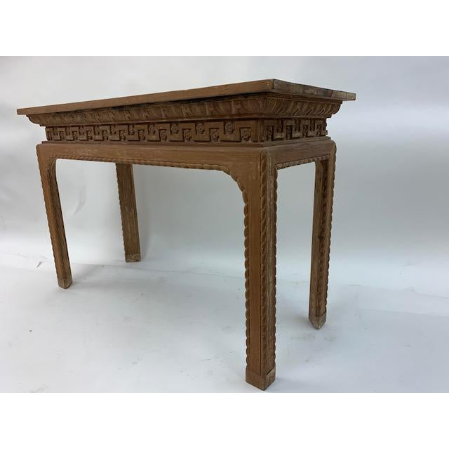 Wood Vintage Italian Carved Console Tables - a Pair For Sale - Image 7 of 11