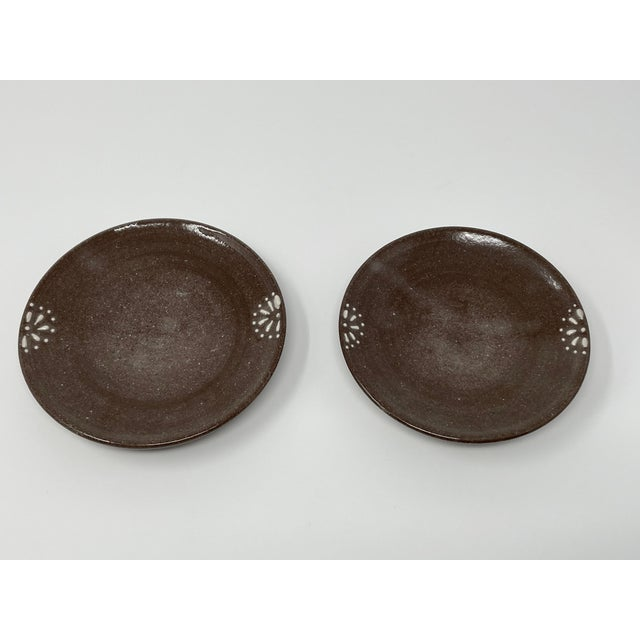 Clay Hand Made Earthenware Lizella Clay Accent Soap Dish Small Accent Plates - a Pair For Sale - Image 7 of 7