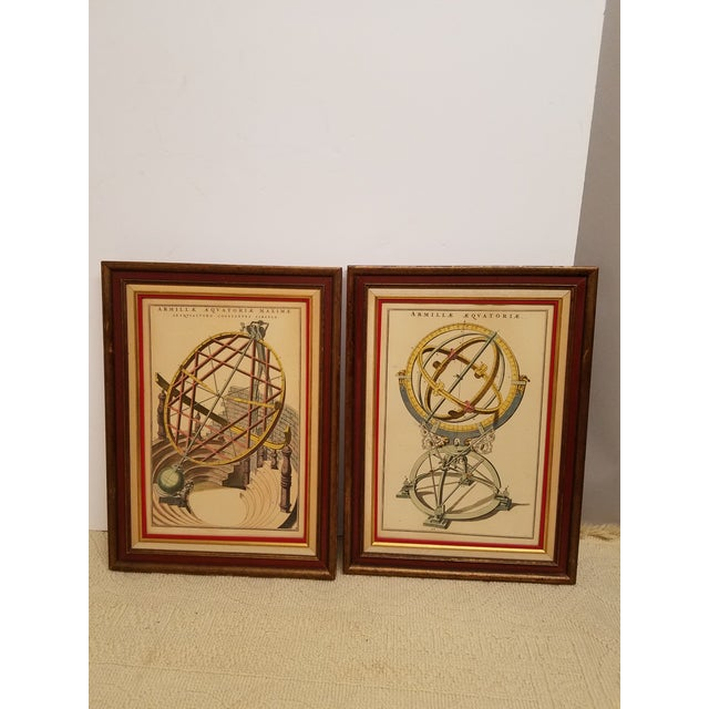 Vintage Hand Colored Armillary Prints - a Pair - Image 2 of 7