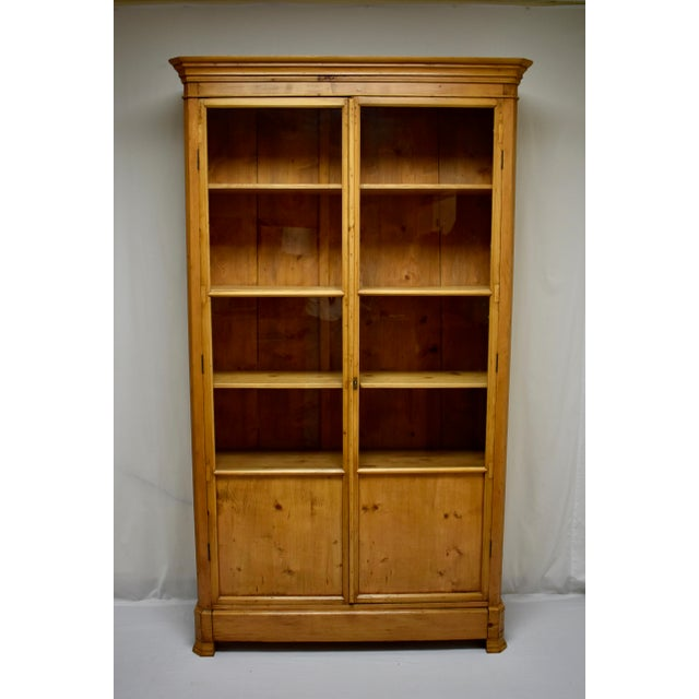 French Pine Glazed Bookcase For Sale - Image 13 of 13
