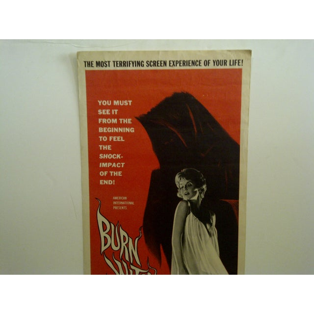 "Contemporary Vintage Movie Poster ""Burn Witch Burn"" Janet Blair - 1962 For Sale - Image 3 of 6"