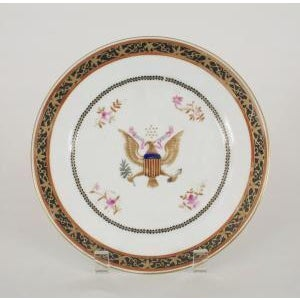 Americana 19th Century Chinese Import American dinner plates- A Pair For Sale - Image 3 of 3