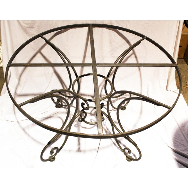 Wrought Steel Dining Table Base For Sale - Image 9 of 10