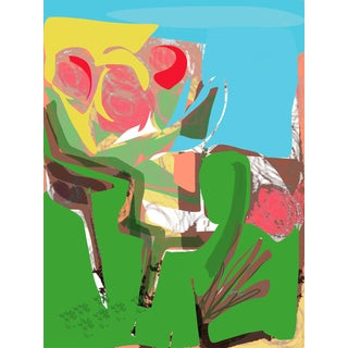 """""""Garden"""" by Trixie Pitts Abstract Landscape Print For Sale"""