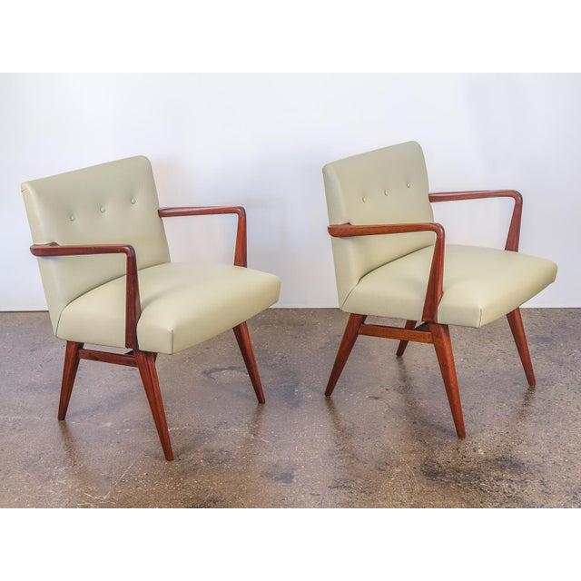 Jens Risom Model 108 Walnut Side Chairs - Image 4 of 11