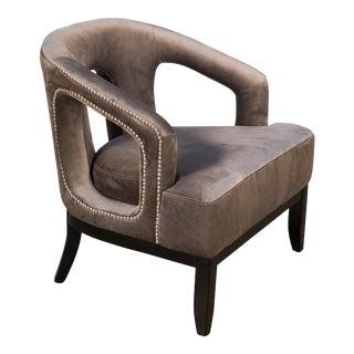Luppy Chair in Grey Velvet For Sale